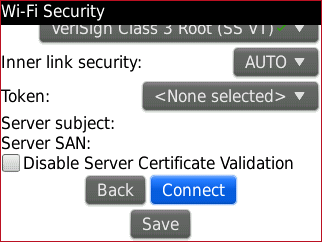 how to set up network connection on a blackberry